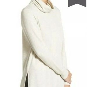 Madison & Berkeley Tan Cowel Neck Sweater